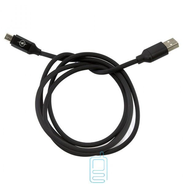 Кабель USB - Micro (силикон однотонный) 1.2m черный