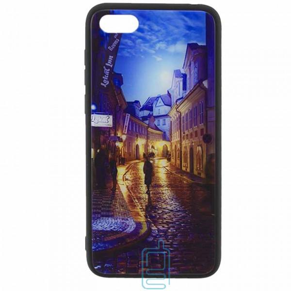 Чехол накладка Glass Case New Huawei Y5 2018, Y5 Prime 2018, Honor 7A переулок