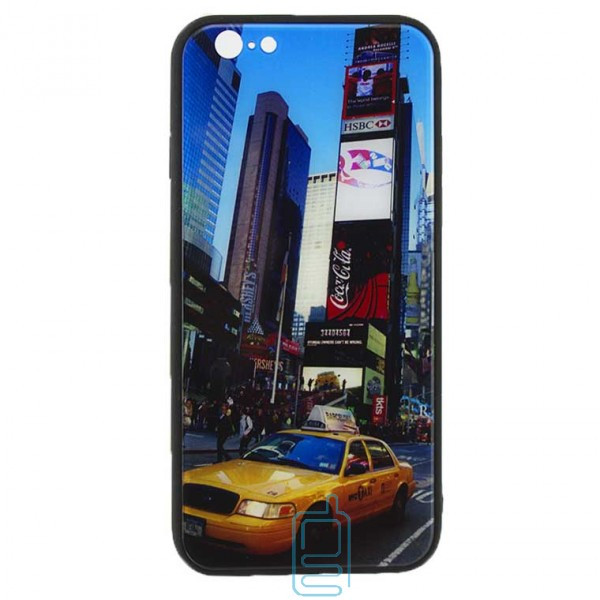 Чехол накладка Glass Case New Apple iPhone 6, 6S такси