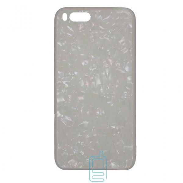 Чехол накладка Glass Case Мрамор Xiaomi Mi6 белый