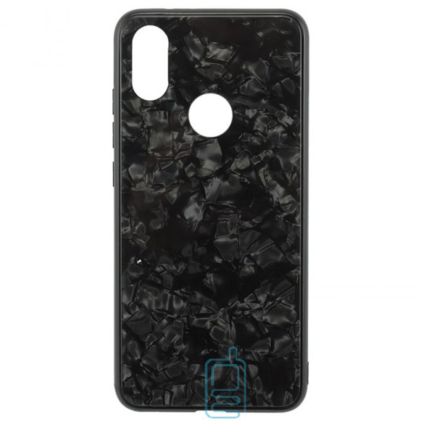 Чехол накладка Glass Case Мрамор Xiaomi Mi 8 черный