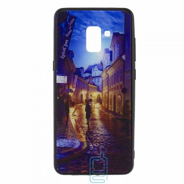 Чехол накладка Glass Case New Samsung A8 Plus 2018 A730 переулок