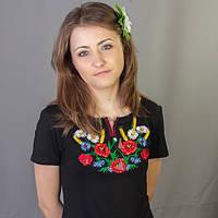 Женская вышиванка маки ромашки колоски | Жіноча вишиванка маки ромашки колоски