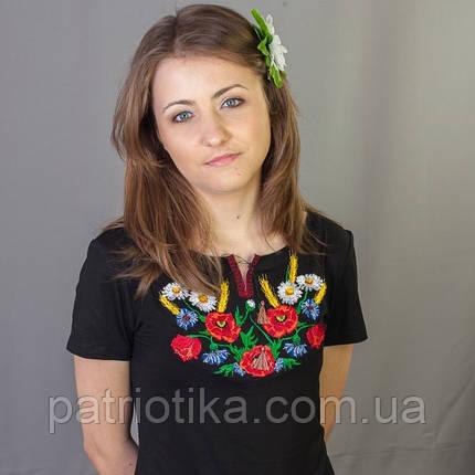 Женская вышиванка маки ромашки колоски | Жіноча вишиванка маки ромашки колоски , фото 2