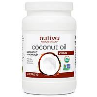 Nutiva, кокосовое масло, холодной выжимки, 15 жидких унций (444 мл)