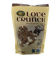 Natures Path, Хруст любви, органическая гранола высшего качества со вкусом печенья макарон с черным шоколадом, 11,5 унций (325 г)