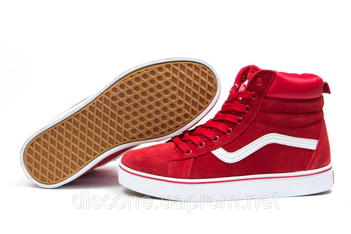 Зимние женские кроссовки 30723 ► Vans Old School Winter, красные ✅Скидка % ► [ нет в наличии ]