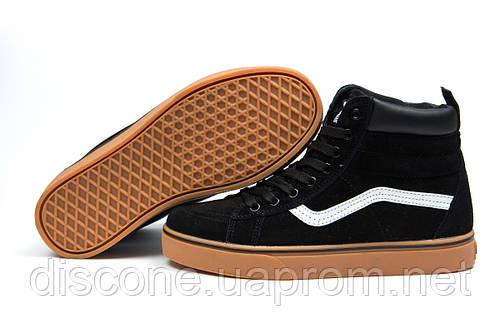 Зимние кроссовки на меху Vans Old School Winter, черные (30724), р.  [  36 37 38  ]