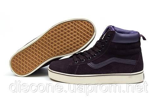Зимние кроссовки на меху Vans Old School Winter, фиолетовые (30726), р.  [  36 37 38 39 40  ]