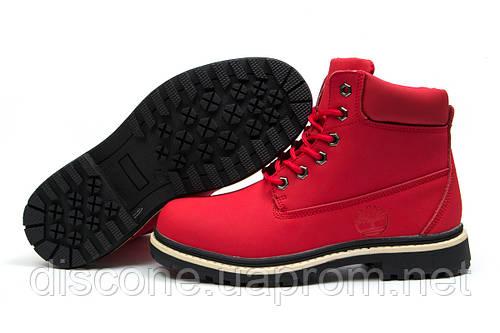 Зимние ботинки на меху Timberland Premium Boot, красные (30735), р.  [  39 (последняя пара)  ]