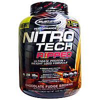 Muscletech, Nitro Tech Ripped + формула для снижения веса, со вкусом шоколадной помадки, 4,00 фунта (1,81 кг)