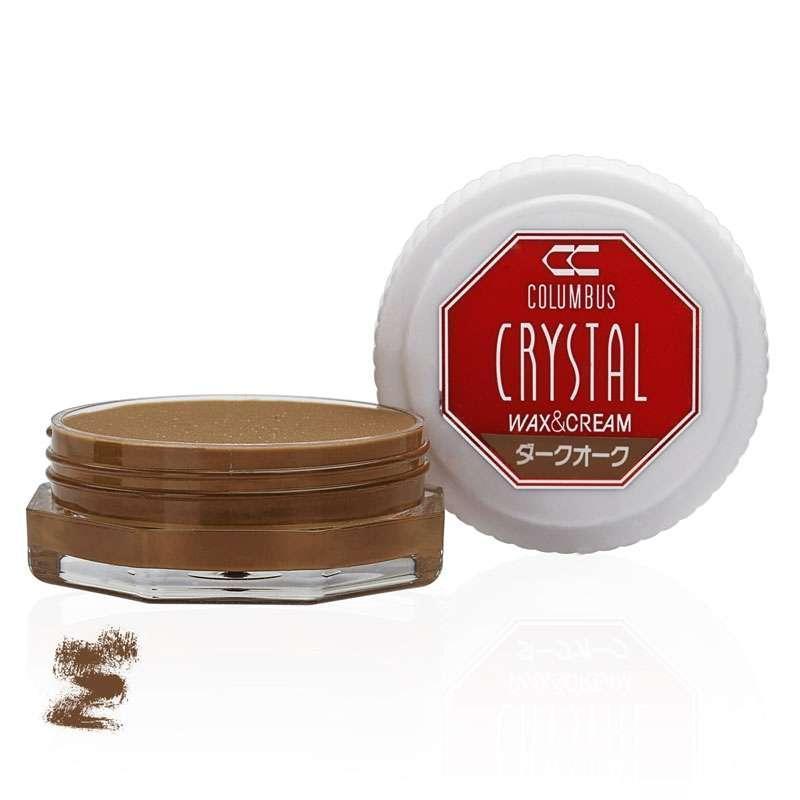✅ Оливково-коричневый крем-воск для обуви класса люкс Columbus Crystal Wax&Cream, 35 мл