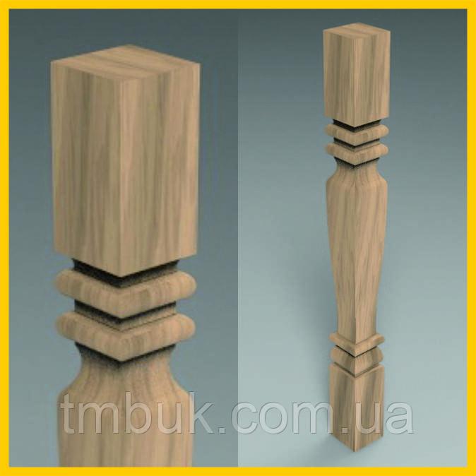 Изготовление резных квадратных ножек на ЧПУ. Для корпусной, деревянной и мягкой мебели. 865 мм