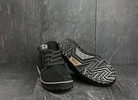 Ботинки Norman Z158 (зима, мужские, нубук, черный)