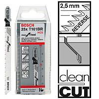 Пилка для лобзика Bosch T 101 BR, HCS 25 шт/упак., фото 1