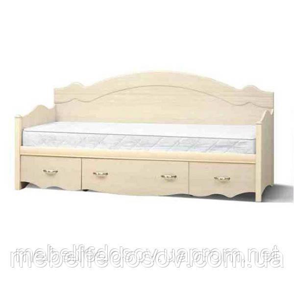 Кровать односпальная с ящиками 1-сп ШСелина  (Світ мебелів) 2095х970х940мм