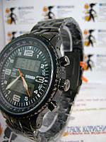 Мужские наручные электронно-кварцевые часы skmei 1032 на браслете