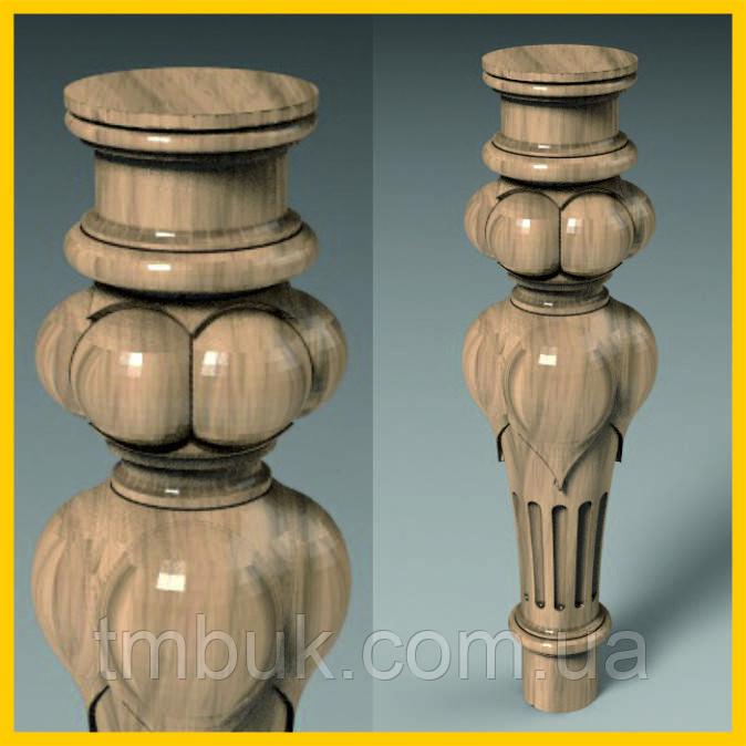 Изготовление резных круглых ножек на ЧПУ. Для тумб, комодов, деревянной и мягкой мебели. 285 мм