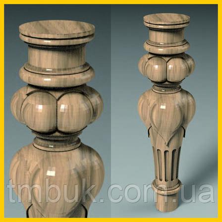 Изготовление резных круглых ножек на ЧПУ. Для тумб, комодов, деревянной и мягкой мебели. 285 мм, фото 2