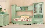 Кровать односпальная с ящиками 1-сп ШСелина  (Світ мебелів) 2095х970х940мм , фото 5