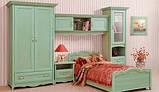 Кровать односпальная с ящиками 1-сп ШСелина  (Світ мебелів) 2095х970х940мм , фото 6
