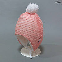 Утепленная шапочка для девочки. 40-45 см