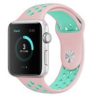 Ремень Sport Band for Apple Watch 38mm/40mm (Light Pink/ Light Blue), фото 1