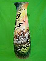 Керамическая напольная ваза «Диана» черно-белые бабочки Лебеди