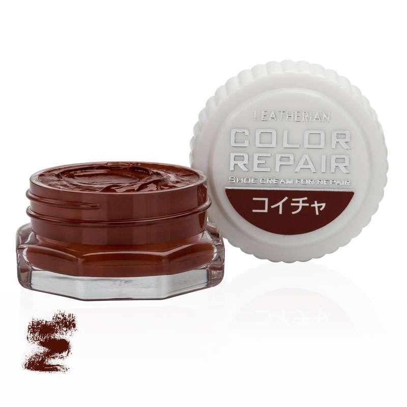 ✅ Темно-коричневая крем-краска для обуви Columbus Leatherian Color Repair, 9 мл