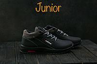 Кроссовки CrossSAV 39 (Adidas) (зима, подростковые, кожа, черно-серый)