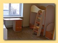 Кроватка 2-х ярусная из ЛДСП, фото 1