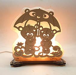 Соляна лампа Ведмедика під парасолькою