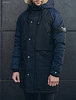 Зимняя мужская черно-синяя парка Staff rain black and navy, фото 1