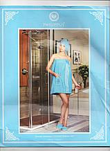 Набір жіночий для сауни і лазні Блакитний