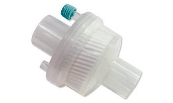 """Фільтр з тепло та вологообмінником вірусо-бактеріальний одноразового використання, стерильний """"MEDICARE"""" (електростатичний, з портом, для дорослих)"""