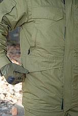 """Зимний костюм-горка """"Варяг"""", 100%х/б палатка, олива + флисовая подкладка, фото 2"""