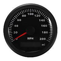 85 мм GPS Спидометр Водонепроницаемы 200MPH Калибратор Цифровой нержавеющий Авто Грузовик Черный - 1TopShop
