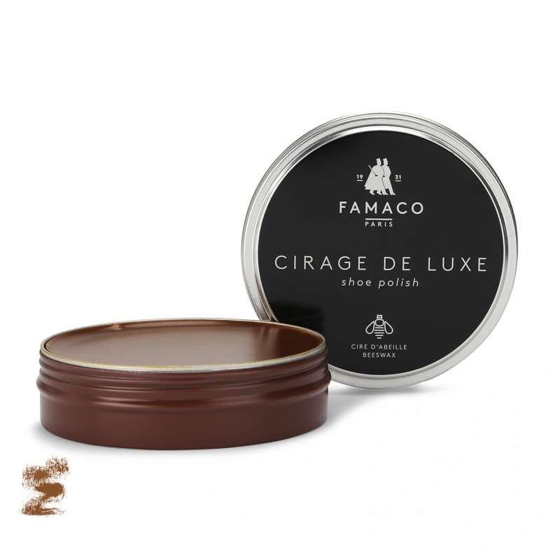 ✅ Красно-желто-коричневая паста для обуви Famaco Cirage De Luxe, 100 мл
