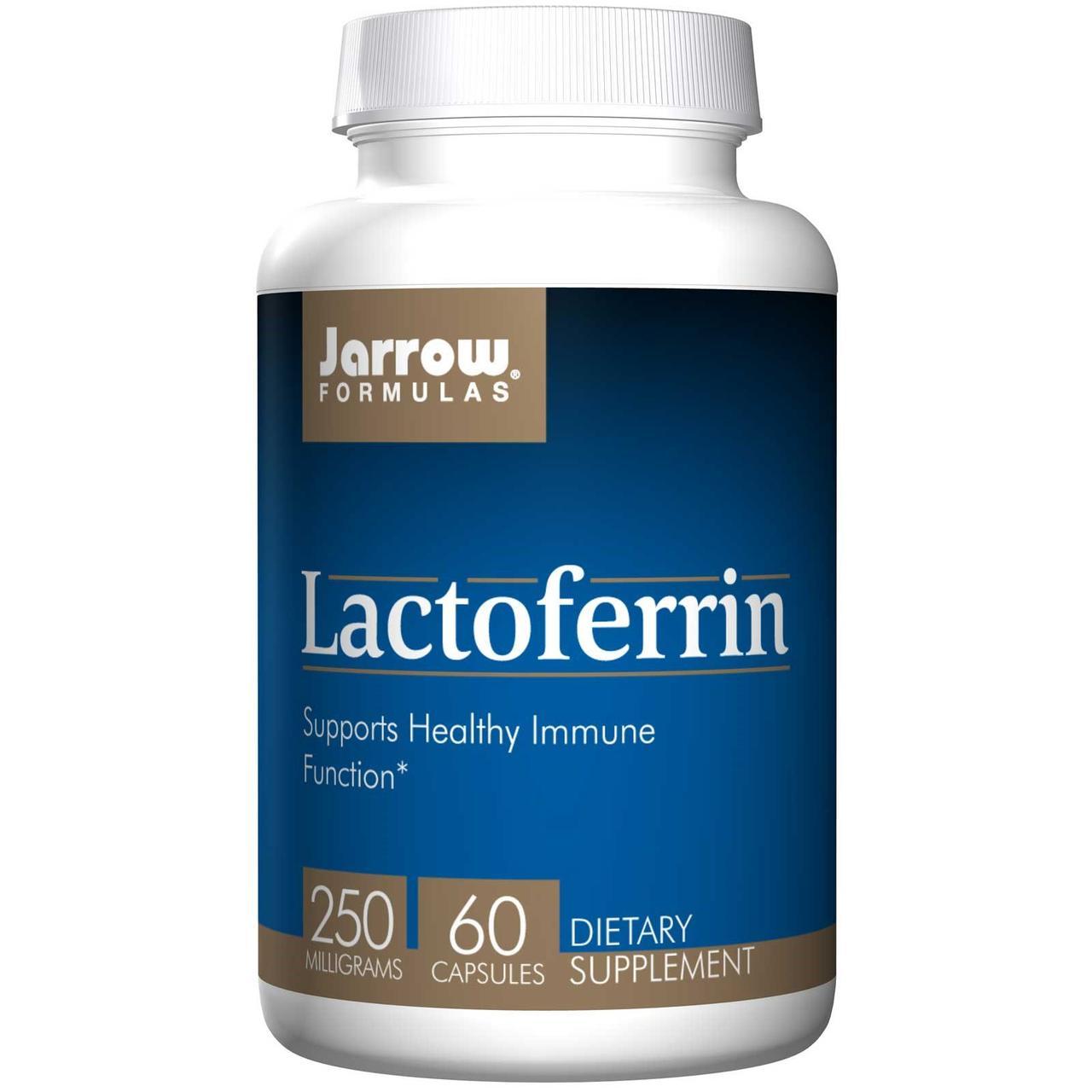Jarrow Formulas, Лактоферрин, 250 мг, 60 капсул