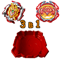 Набор 3 в 1: Арена + Бейблейд Феникс S3 и Beyblade Ахиллес S3