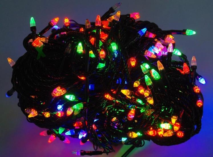 Гирлянда светодиодная LED 300 мультик черный 122775
