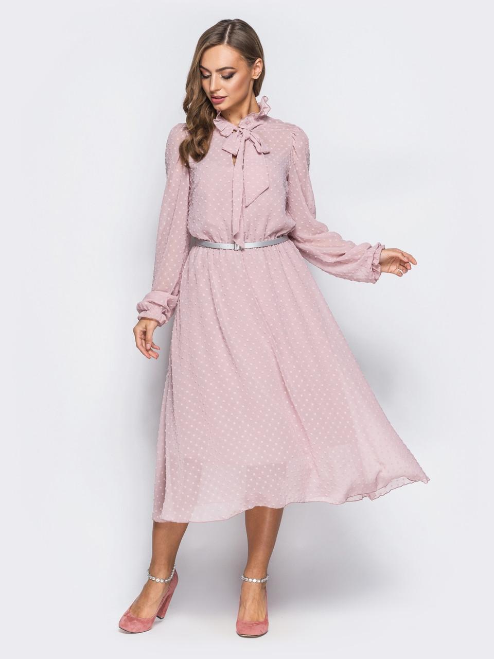 Повітряне плаття з шифону в фактурний