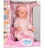 Пупс Baby Born BL020I-S UA, горшок, подгузник, соска, тарелка ,ложка ,каша 2 шт ,бутылка,резинки