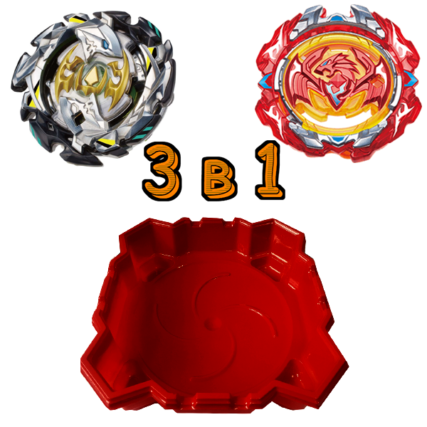 Набор 3 в 1: Арена + Бейблейд Феникс S3 и Beyblade Император Форнеус S3