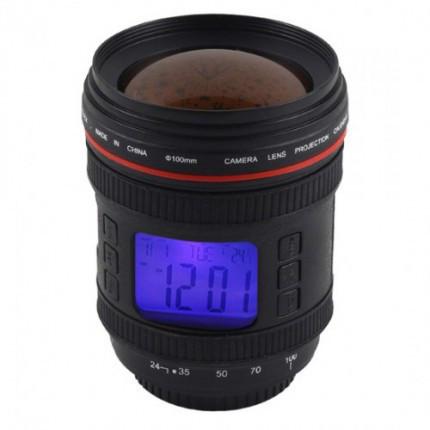 Годинник проектор у вигляді об'єктива зі звуками природи / Часы проектор со звуками природы