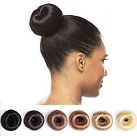 Бублик, валик, пончик, донат для пучка балерины из искусственных волос, диаметр 6 см