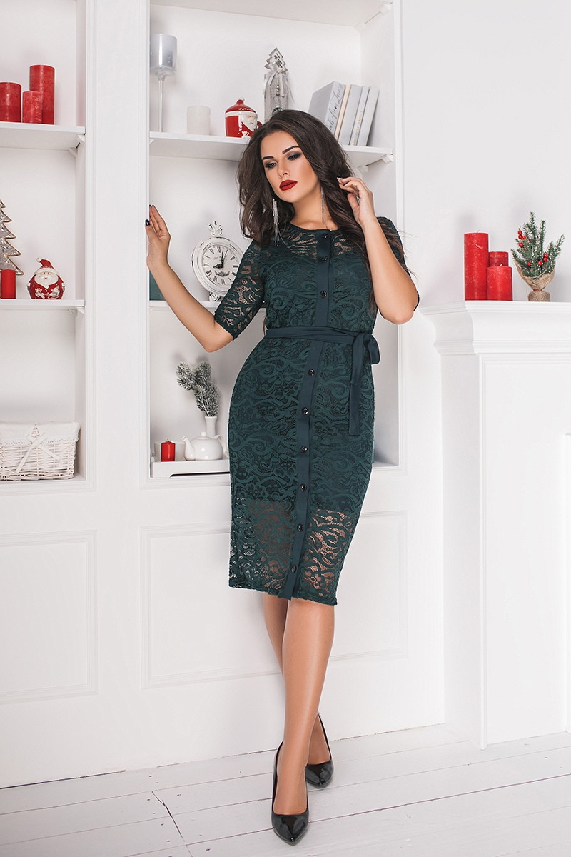 Платье+кардиган  БАТАЛ в расцветках 703051