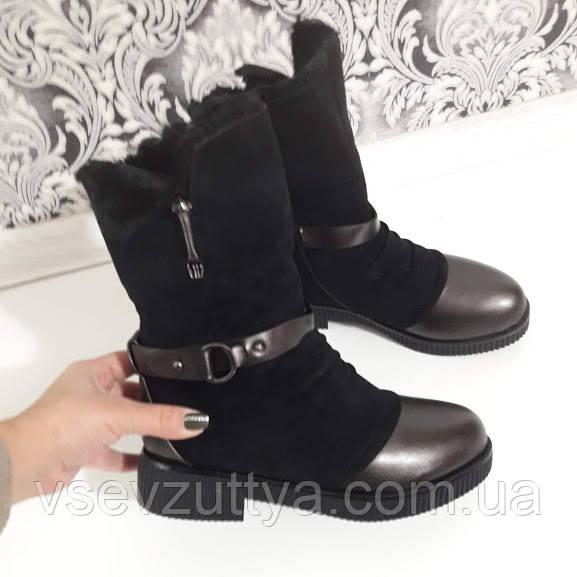 dcdd0b0a0a2605 Чобітки жіночі чорні зимові. Тільки 39 і 40 розмір!: продажа, цена в ...