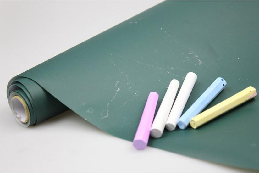 Грифельная наклейка с мелками 45х200см зеленая 123124