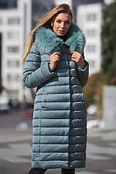 Зимний пуховик женский LS-8816-7, (фисташка)